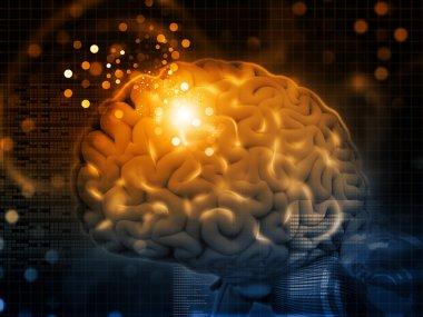 3d render of Brain functions