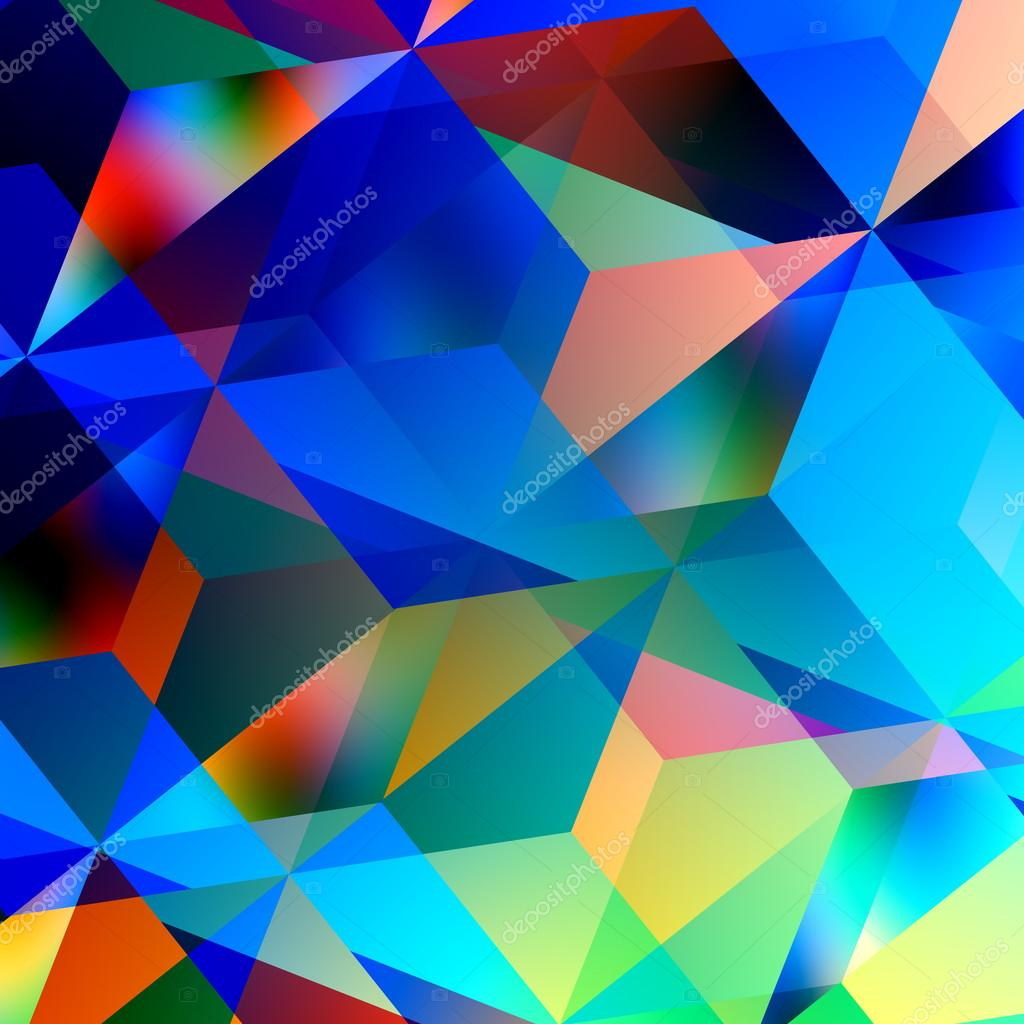 Geometric abstract background blue mosaic pattern triangle design color and art patterns - Photo image design ...