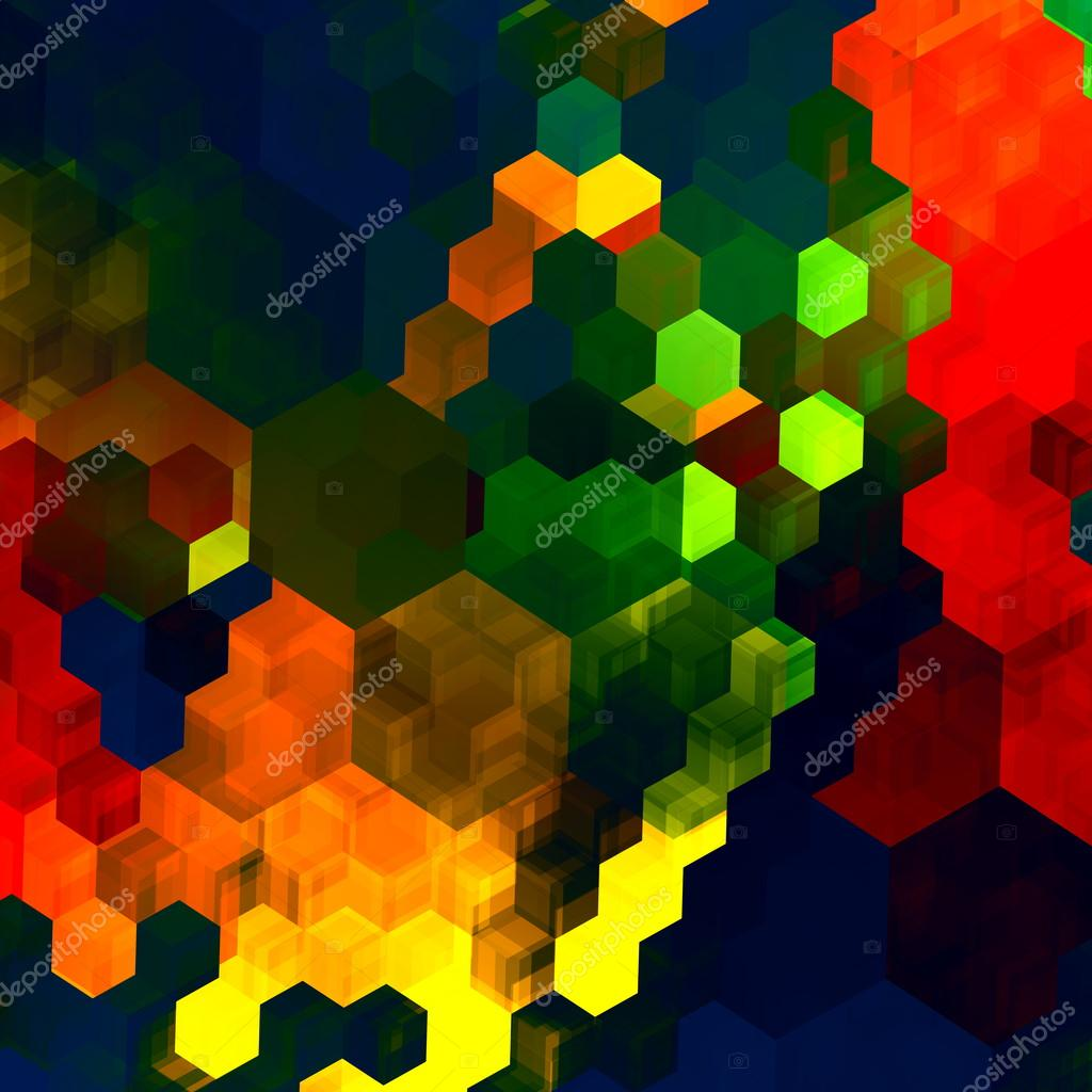 Mosaic Abstract Background - Red Green Blue Colorful Chaotic Pattern ...