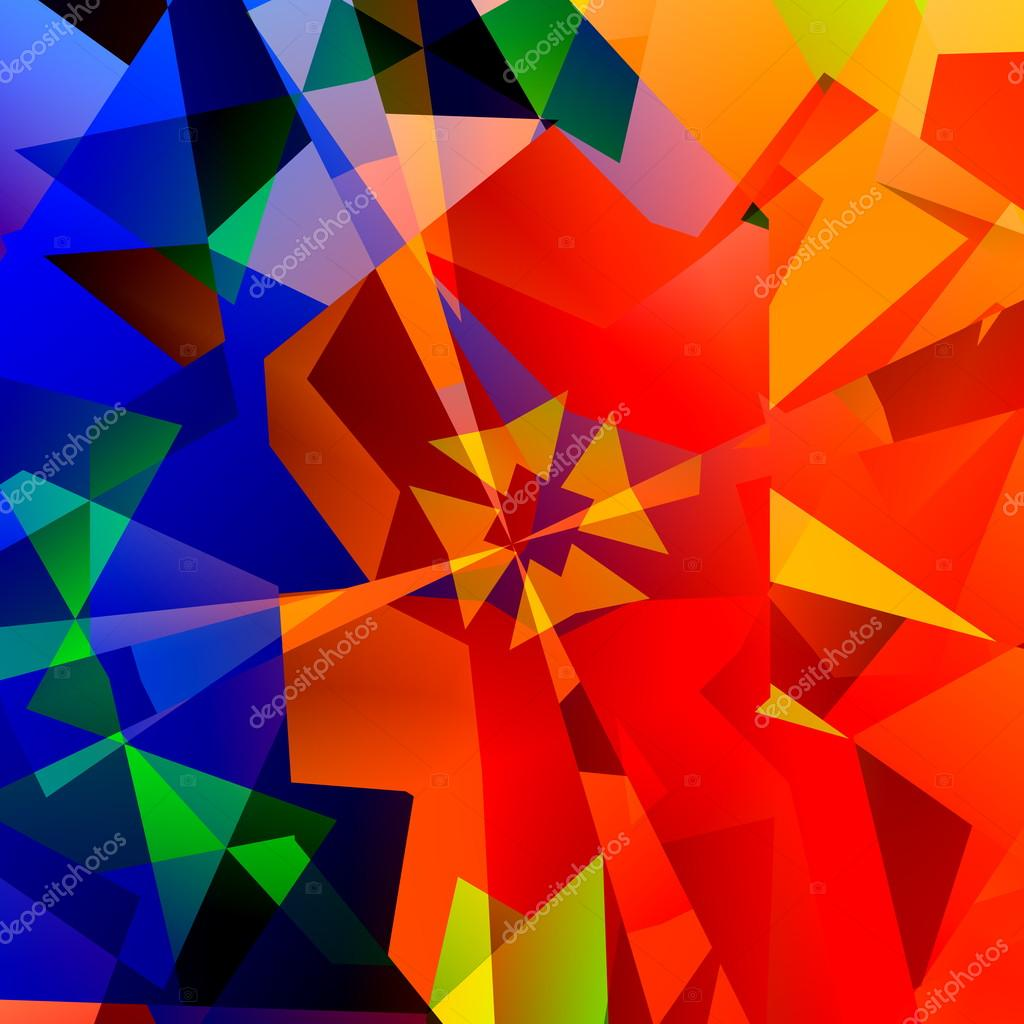 Color art kaleidoscope - Chaotic Abstract Colorful Art Red Green And Blue Color Geometrical Multicolored Triangles Background Psychedelic Rainbow Of Colors Kaleidoscope