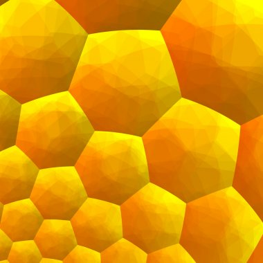 Abstract Fractal Background - Computer Generated Graphics - Inside of Honey Bee Hive - Hexagonal Geometric Backgrounds - Warm Yellow Color Tone -