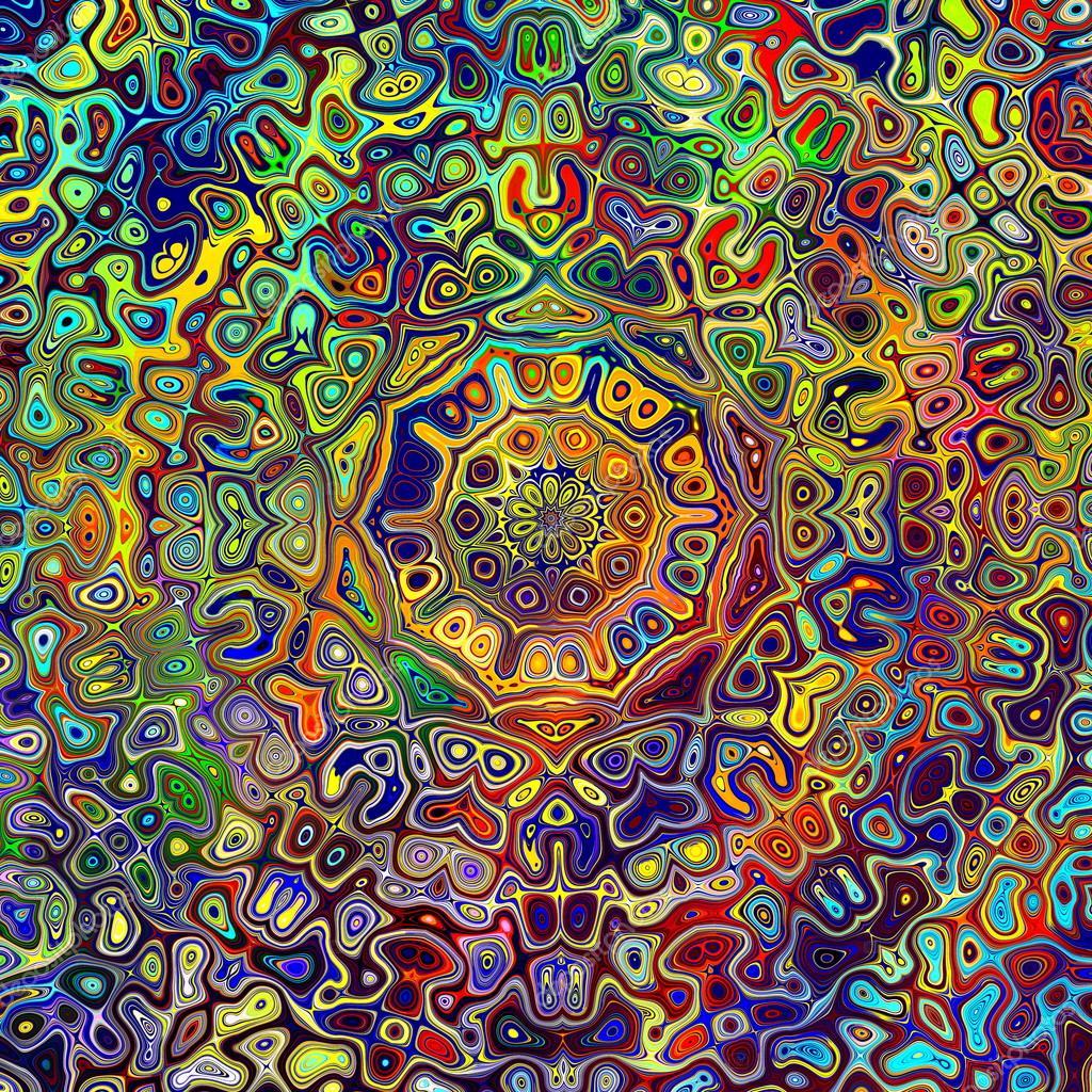colorful psychedelic mandala pattern unique creative