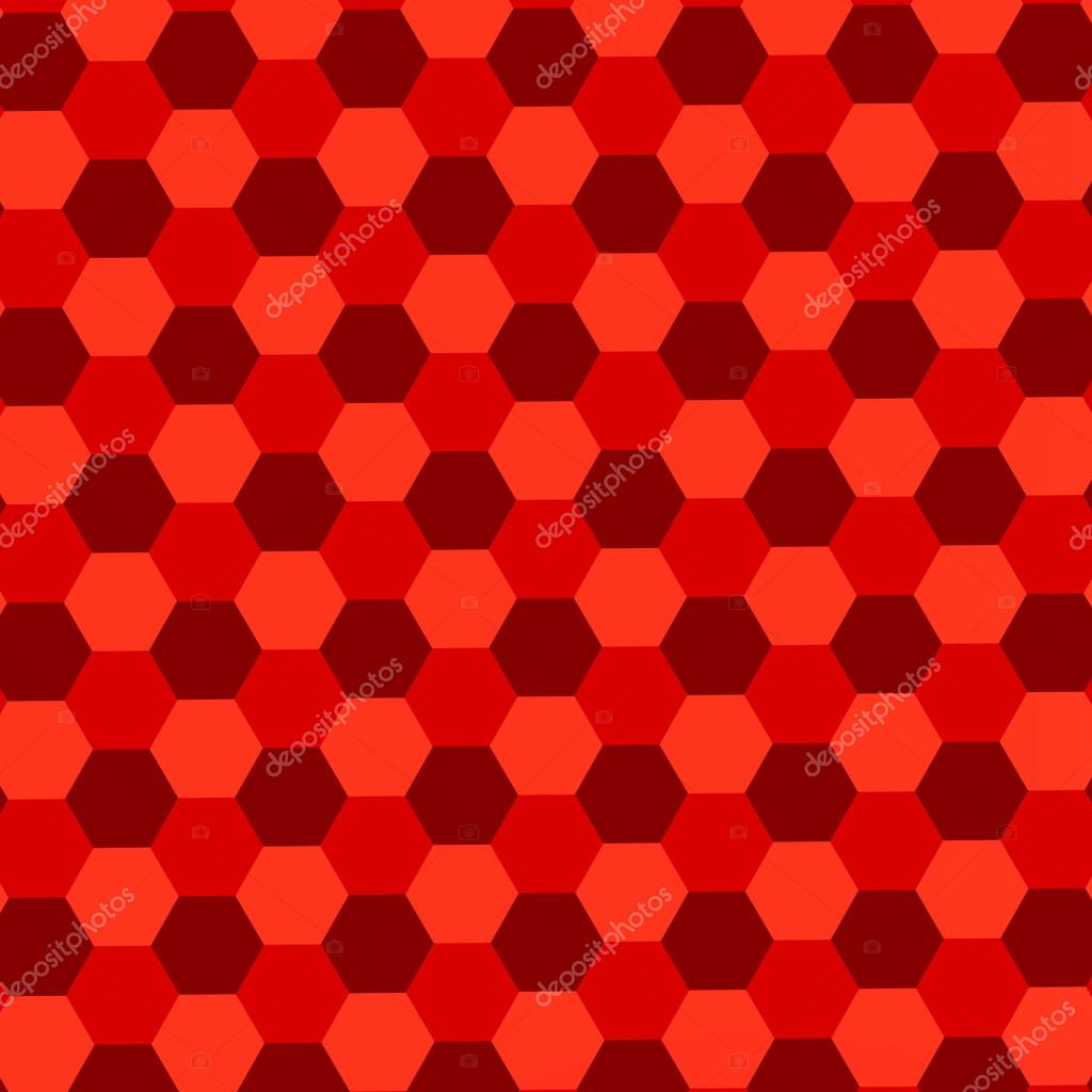Red Hexagons Background Abstract Geometric Pattern Mosaic