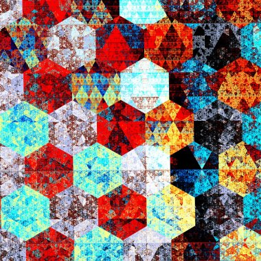 Modern abstract art composition. Artistic textile pattern design. Psychedelic style. Red blue background. Beautiful geometric illustration. Wallpaper patterns. Detail image. Fantasy pic. Backdrops.