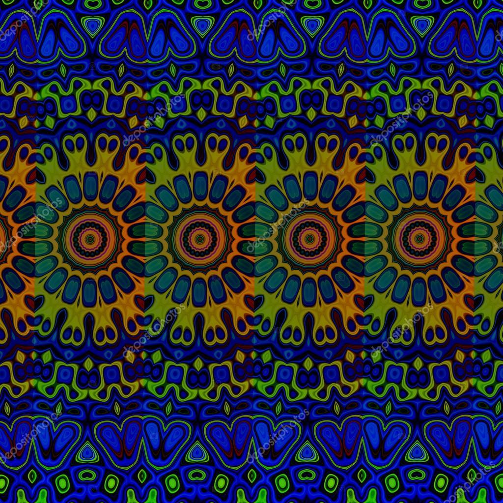 blaue psychedelische muster hintergrund coole arabische kunst bild looney blob stammeskunst. Black Bedroom Furniture Sets. Home Design Ideas