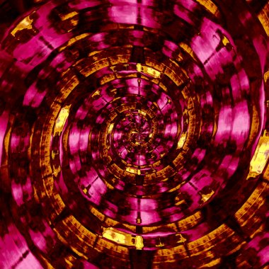 Psychedelic golden and purple spiral. Obscure sci fi twirling. Unreal cyber twist. Beautiful messy art. Unique mad graphics. Odd hypnotic spiral. Uncommon magic idea. Design in full frame. Image.