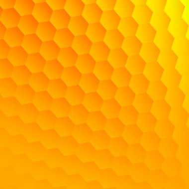 Abstract yellow hexagons background. Cool hexagon grid. Hex shape geometry. Flat design element. Clean floor picture. Fresh visual effect. Blank space for text. Opaque bubbles decor. Textured surface.