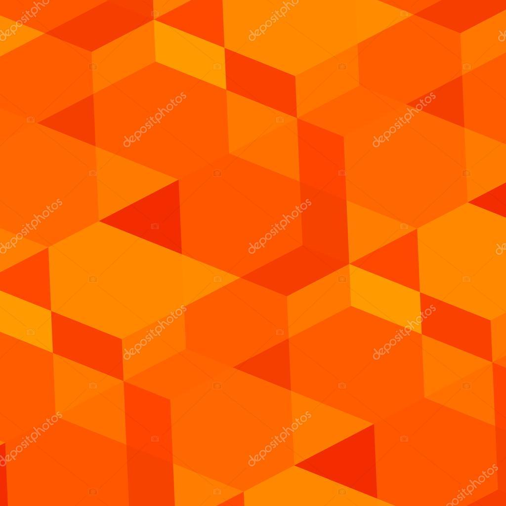 Fondo naranja geométrica abstracta. Arte digital moderno. Realizada ...