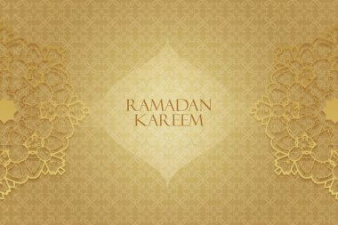 Ramadan greetings background. Ramadan Kareem means Ramadan the Generous Month stock vector