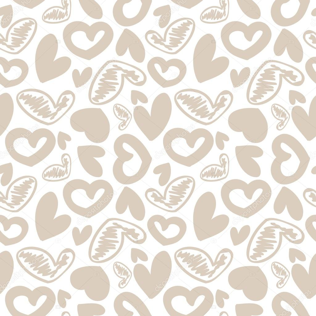 Fun Seamless Vintage Love Heart Background In Pretty Colors