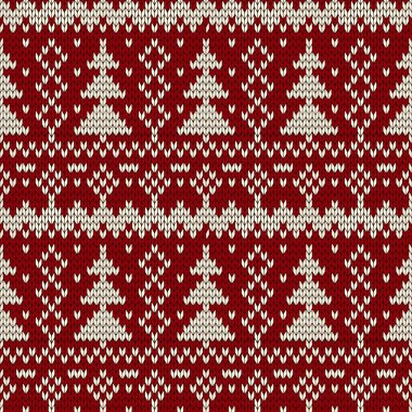 Christmas seamless knitted background.