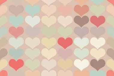 Seamless vintage heart pattern background