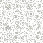 Bezešvé pattern.birds a květiny