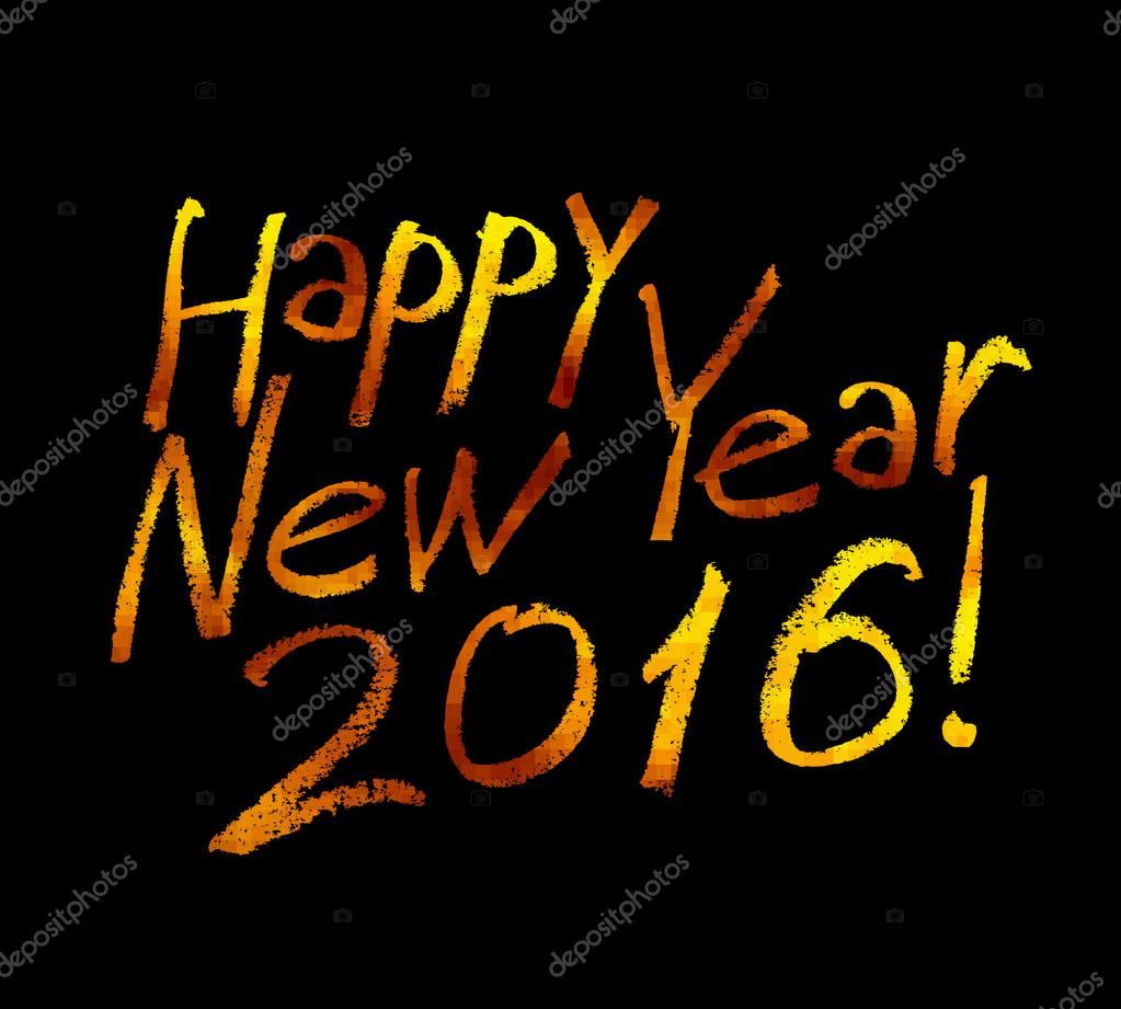 gold label happy new year stock vector