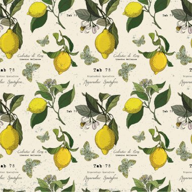 Pattern with lemon branches.