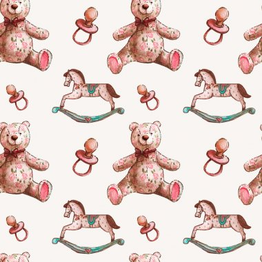 Pattern with baby toys