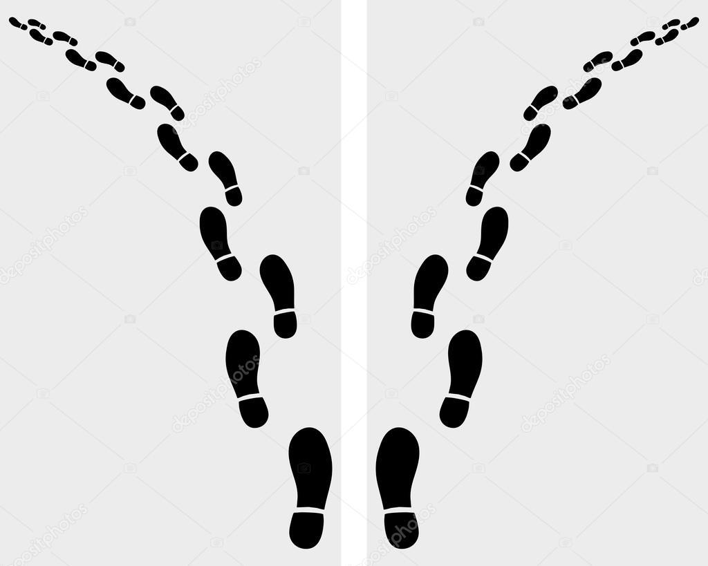 newest d15f9 d5d05 Impronte di scarpe — Vettoriali Stock © matnikola #65204455