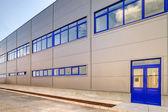Fotografie blaue Aluminiumfassade