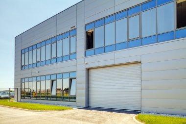 Aluminum facade on industrial building