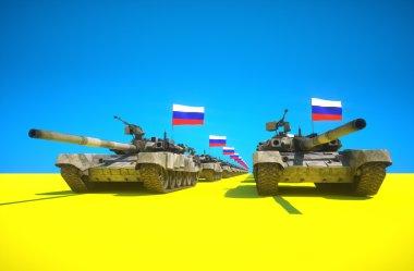 Russian ukraine conflict concept