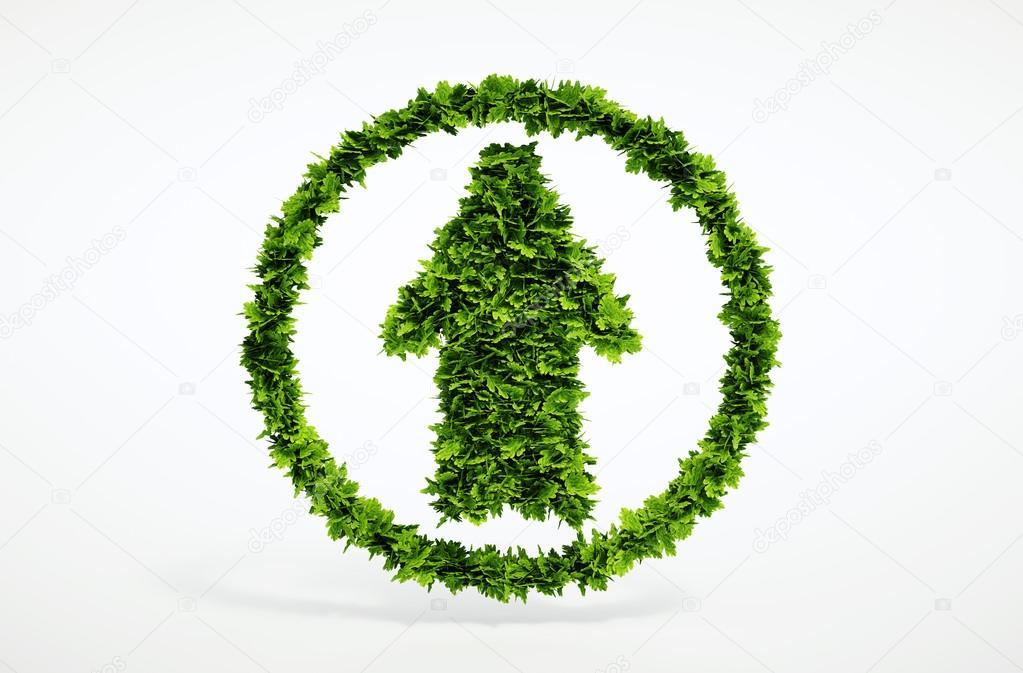 Eco up arrow icon