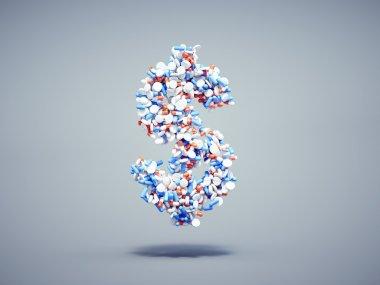 Pills dollar symbol