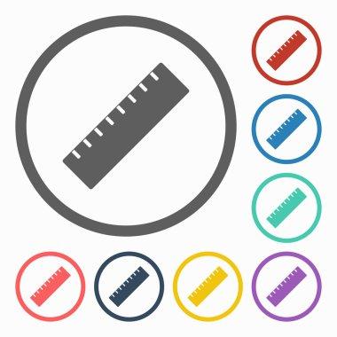 Ruler icon stock vector
