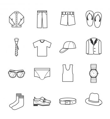 Gent clothes icons