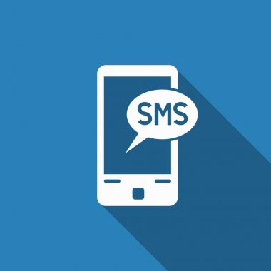 Sms icon with long shadow