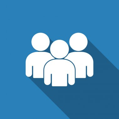 Group people icon with long shadow