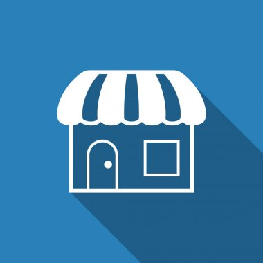 Store icon with long shadow