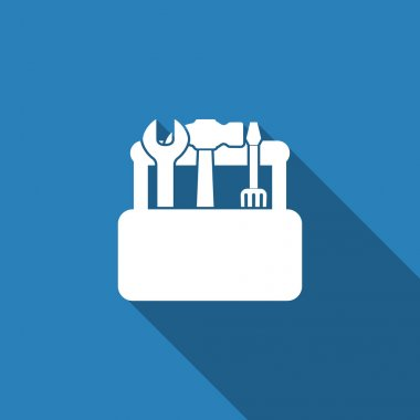 Toolbox icon with long shadow