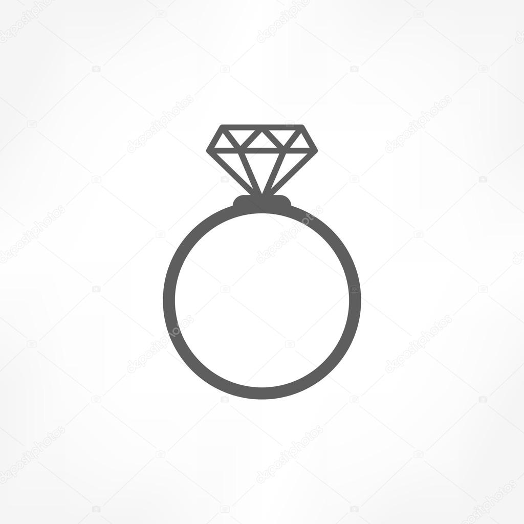 diamond ring vector icon - photo #22