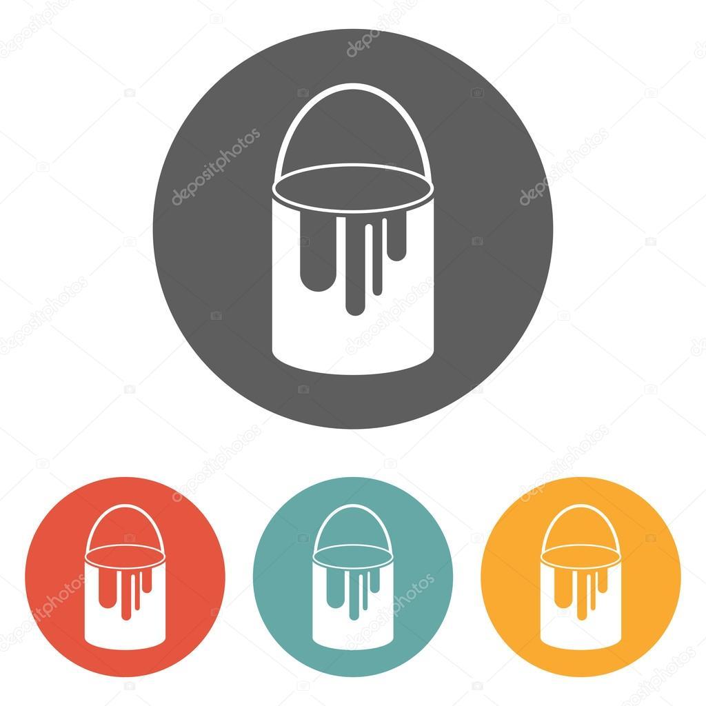 Farbe Kann Mit Dem Symbol Stockvektor T Kot 58332609
