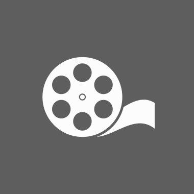 Film reel icon stock vector