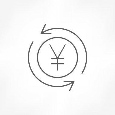 money convert yen icon