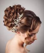 Fotografie krása svatební účes. nevěsta