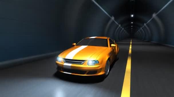 Sportovní auto racing v tunelu