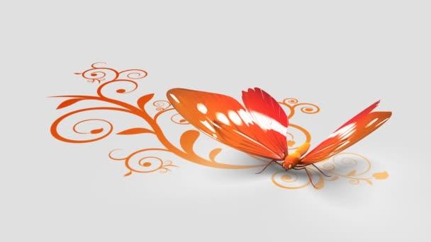 Pillangó a díszes háttér