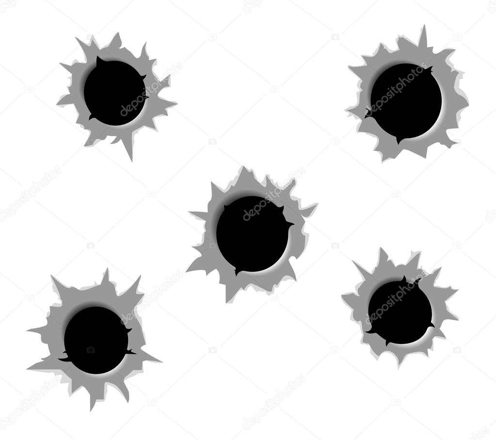 bullet holes stock vector ilexx 67846639 rh depositphotos com download vector bullet holes bullet holes vector free download