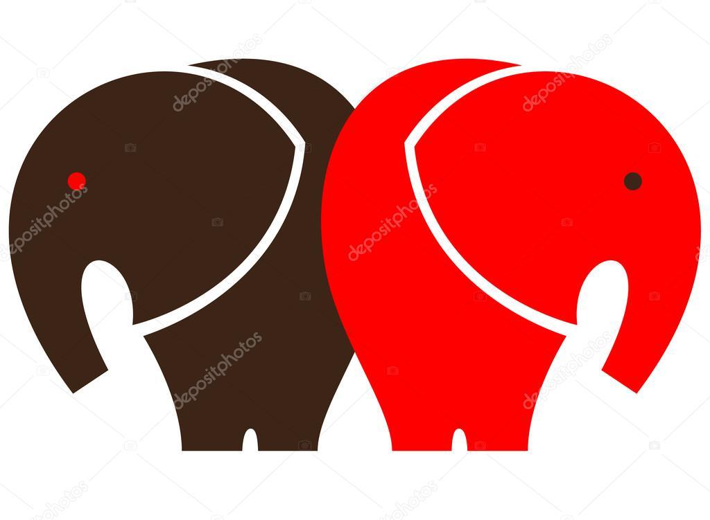 symbole de l'éléphant — image vectorielle ilexx © #86952644