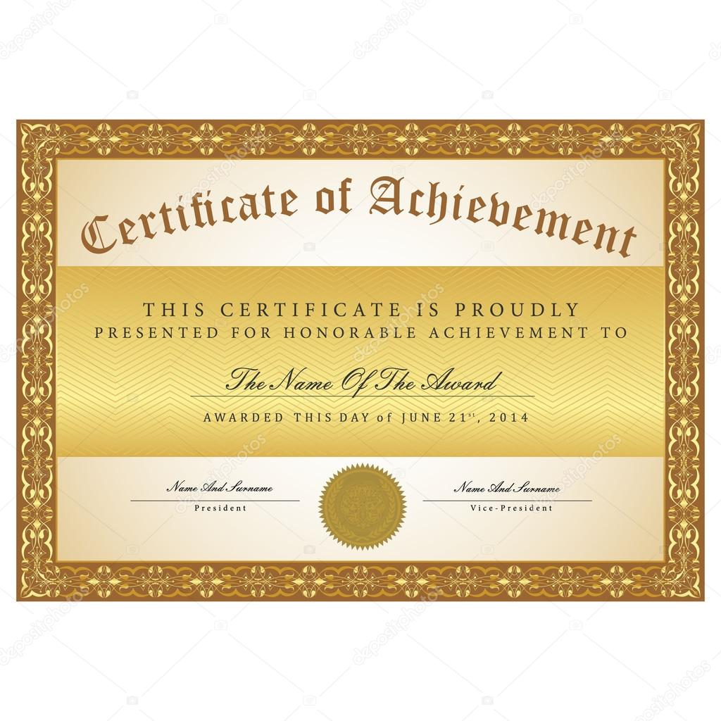 Certificate Template Black And Gold Stock Vector C Ukix21 Yahoo