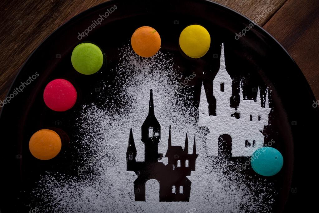 Halloween background on plate