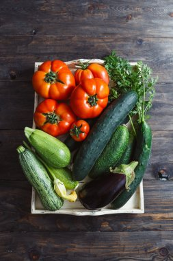 Fresh organic homegrown vegetables