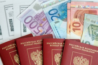 passports, boarding passes and money