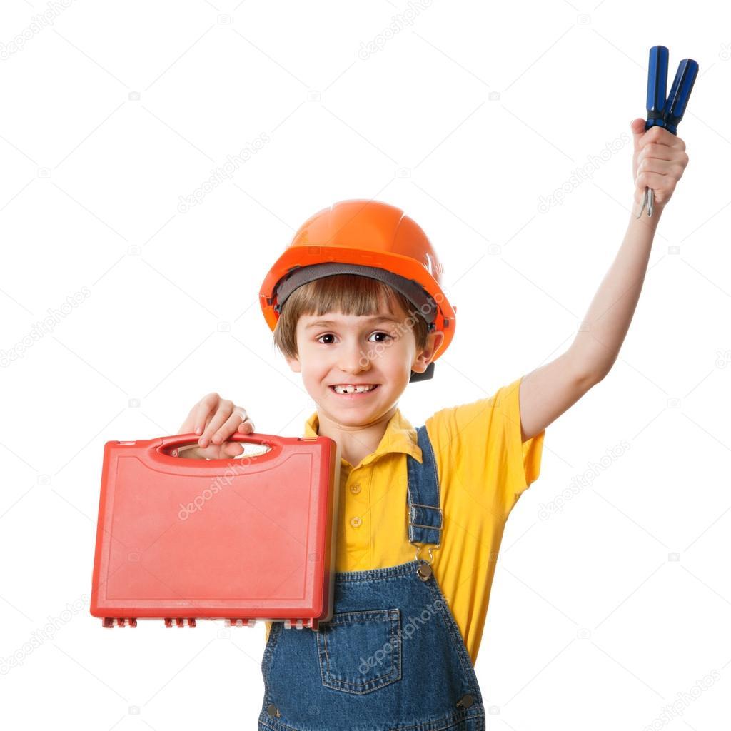 Chico trabajador de construcción — Fotos de Stock © anrymoscow #70507271