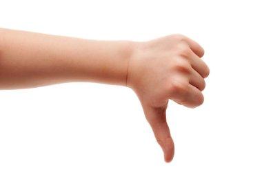 thumb down gesture