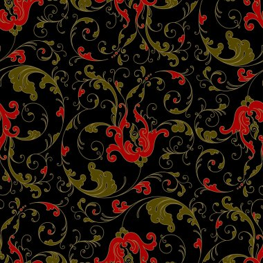 Floral seamless in a folk style