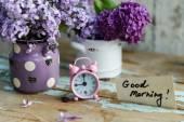 dvou tónů květy s Poznámka: dobré ráno