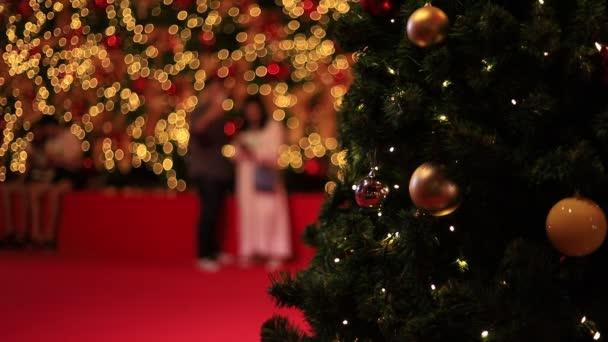 Vánoční bokeh světlo abstraktní, vánoční pozadí vzor koncepce.